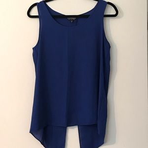 Blue Split Back Tank from Express, Size Medium